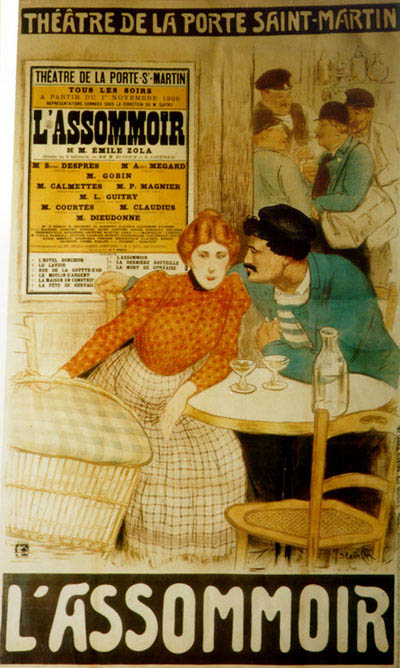 Poster Advertising The Theatre Adaptation Of Zola S L